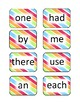 Kindergarten Sight Word Cards (Stripes)