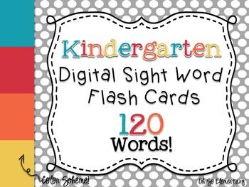 Kindergarten Sight Words - Digital Flash Cards