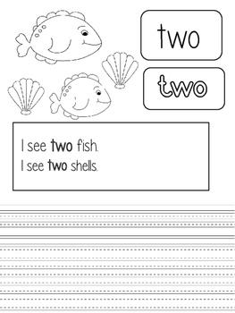 Kindergarten Sight Words Practice