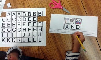 Kindergarten Literacy Centers with Mystery Letters {40 Words in Color and B/W!}