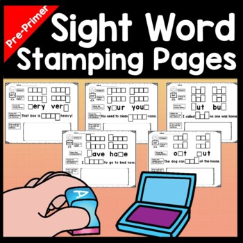 Sight Words Kindergarten with Stamping {40 Pages!}