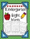 Kindergarten Sight Words **FREEBIE**