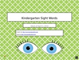 Kindergarten Sight Words 4
