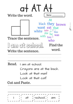 Kindergarten Sight Words Activities 3