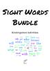 Kindergarten Sight Words Activities Bundle