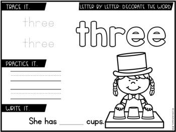 Sight Words Kindergarten Activities & Sight Words Worksheets