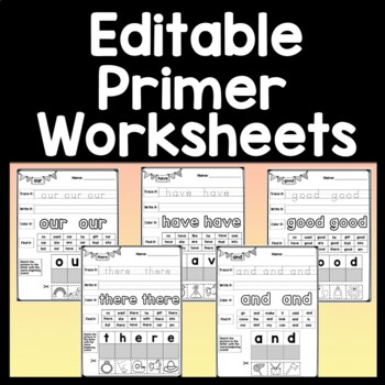 Sight Word Homework or Sight Word Morning Work {52 Pages!}