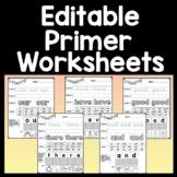 Sight Word Homework {52 Worksheets!}