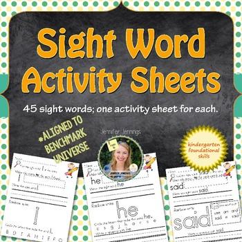 Kindergarten Sight Words - Benchmark Aligned
