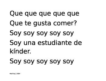 Kindergarten Sight Words Book (SPANISH)- Part 3