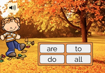 Kindergarten Sight Words BOOM CARDS Set 1