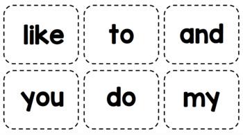 Kindergarten Sight Words Bump!