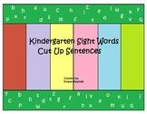 Kindergarten Sight Words Cut Up Sentences