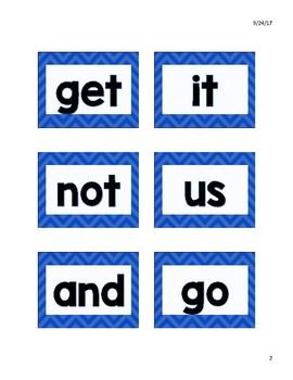 Kindergarten Sight Words- Dual Language