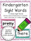 Kindergarten Sight Words ~ Easy to Display