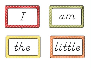 Flash Cards-Kindergarten Sight Words
