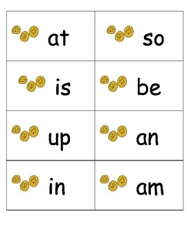St. Patrick's Day Sight Words Game: Fountas and Pinnell 25 Words Easy to Play!
