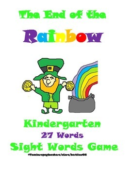 St. Patrick's Day Sight Words Game: Fountas and Pinnell 25