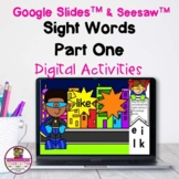 Kindergarten Sight Words 1 Google Slides & Seesaw Distance