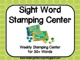 Kindergarten Sight Word Stamping