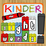 "Kindergarten ""Brick"" Sight Words -- Printables and Games"