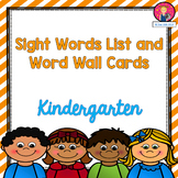 Kindergarten Sight Words List and Word Wall Cards for the Year