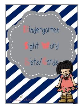 Kindergarten Sight Words Lists/Cards