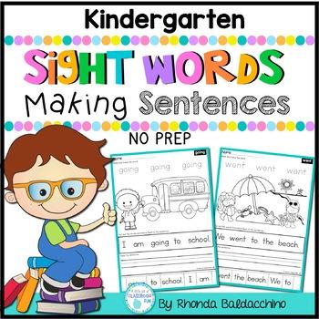Sight Words Making Sentences KINDERGARTEN