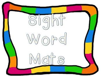 Kindergarten Sight Words Mats