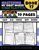 Kindergarten Sight Words: (NO PREP) Book 17