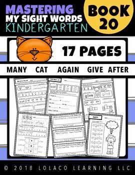 Kindergarten Sight Words: (NO PREP) Book 20