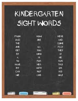 Kindergarten Sight Words Packet - Printables & Games