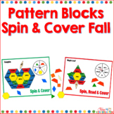 Kindergarten Sight Words Pattern Blocks Spin and Cover for Fall