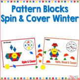 Kindergarten Sight Words Pattern Blocks Spin and Cover for Winter