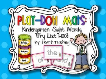 Kindergarten Sight Words Play-Doh Mats {Fry List 1-100}