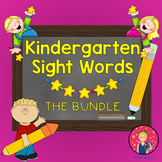 Kindergarten Sight Words Powerpoint for the Year {BUNDLE} ~  PDF File