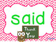 Kindergarten Sight Words Powerpoint for the Year {BUNDLE}
