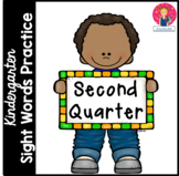 Kindergarten Sight Words Practice - 2nd Quarter - Independent Work Packet