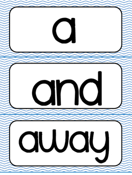 Kindergarten Sight Words Practice Pages and Word Wall Cards