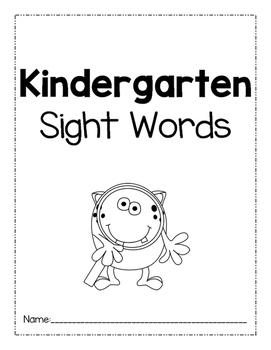 Kindergarten Sight Words Practice Sheets