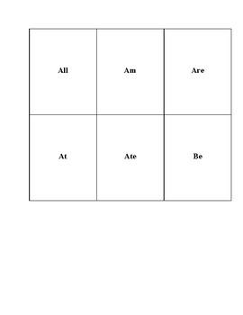 Kindergarten Sight Words Pyramid Game