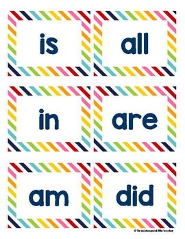 Kindergarten Sight Words - Rainbow Stripes