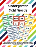 Kindergarten Sight Words - Rainbow Stripes