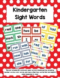 Kindergarten Sight Words - Red Polka Dots