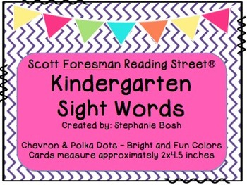 Kindergarten Sight Words ~ Scott Foresman Reading Street®