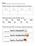 Kindergarten Sight Words, Sight Words II,  and Predictable