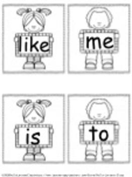 Kindergarten Sight Words Smile Cards