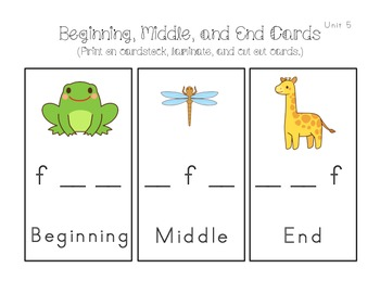 Kindergarten Sight Words, Sounds, Syllable Activities (Unit 5 Reading Wonders)