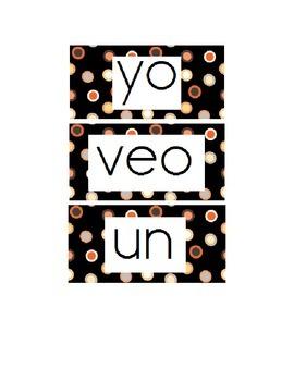 Kindergarten Sight Words- Spanish