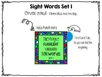 Kindergarten Sight Words ~ The Magic Flashlight
